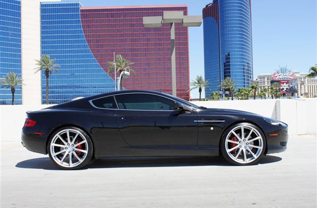 Aston Martin DB9 Coupe Wheels - Side view w/ Convex Wheels