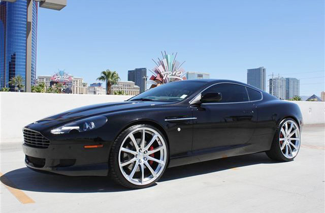 Aston Martin DB9 Coupe Wheels - Front side view w/ Convex Wheels